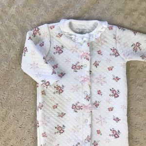 Kyle & Deena Quilted Sleeper Floral Pink White 6-9